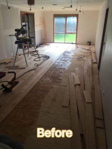 Spotted Gum Flooring Before